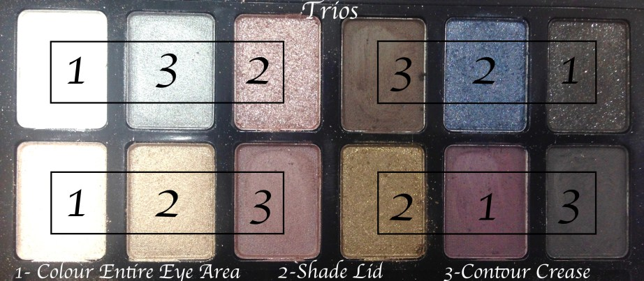 Maybelline The Rock Nudes Eye Shadow Palette Review, Swatches Trios