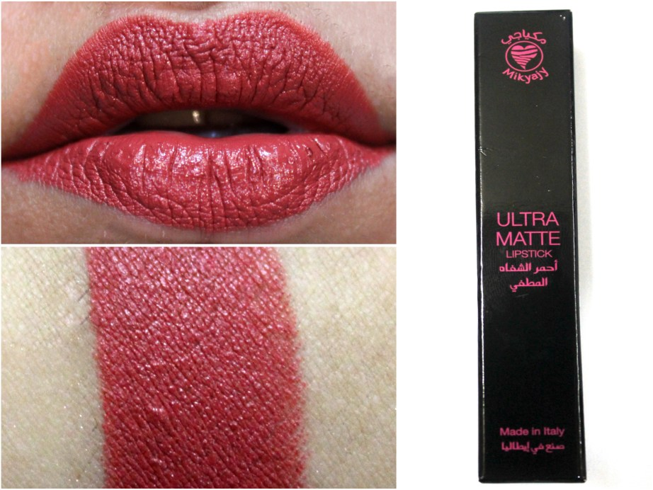 Mikyajy Ultra Matte Lipstick Shade 905 Review, Swatches
