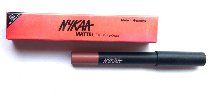Nykaa Matteilicious Lip Crayon Next Level Nude Review, Swatches MBF Blog