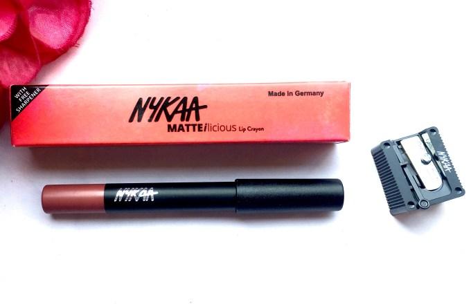 Nykaa Matteilicious Lip Crayon Next Level Nude Review, Swatches MBF Makeup Blog