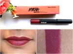 Nykaa Matteilicious Lip Crayon Perfect Plum Review, Swatches