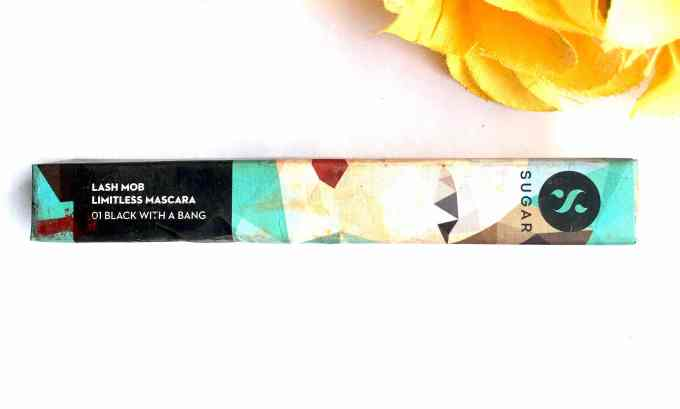 SUGAR Lash Mob Limitless Mascara Black With A Bang Review, Swatches Box