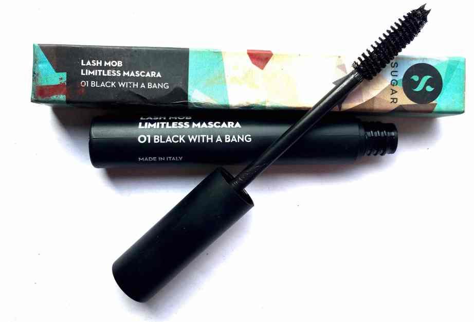 SUGAR Lash Mob Limitless Mascara Black With A Bang Review, Swatches