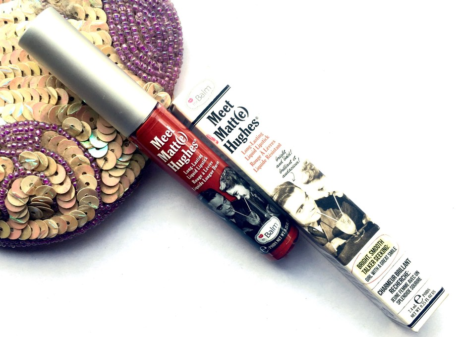 theBalm Meet Matte Hughes Long Lasting Liquid Lipstick Loyal Review, Swatches Beauty Blog