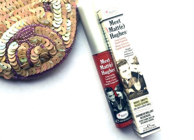 theBalm Meet Matte Hughes Long Lasting Liquid Lipstick Loyal Review, Swatches Makeup Blog