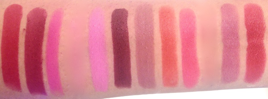 All Maybelline Creamy Matte Lipsticks Shades Review, Swatches Scarlet, Rich Ruby, Fuschia, Rose, Burgundy , Nude Nuance, Craving Coral, Mesmerising Magenta, Touch of Spice, All Fired Up, Divine Wine