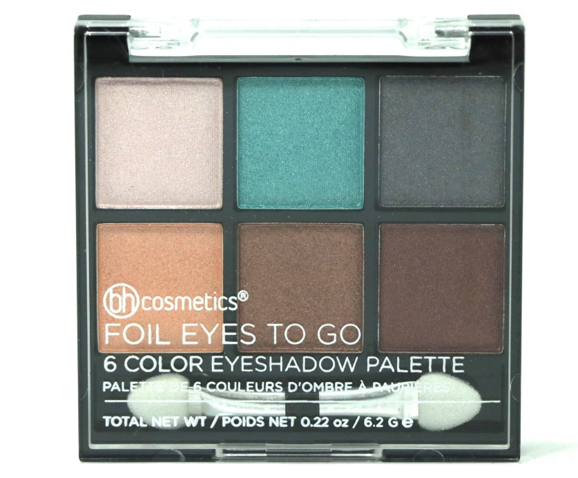 BH Cosmetics Foil Eyes To Go Eyeshadow Palette Review, Swatches Front