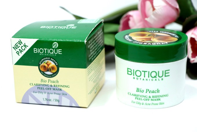 Biotique Bio Peach Clarifying & Refining Peel Off Mask Review, Demo front