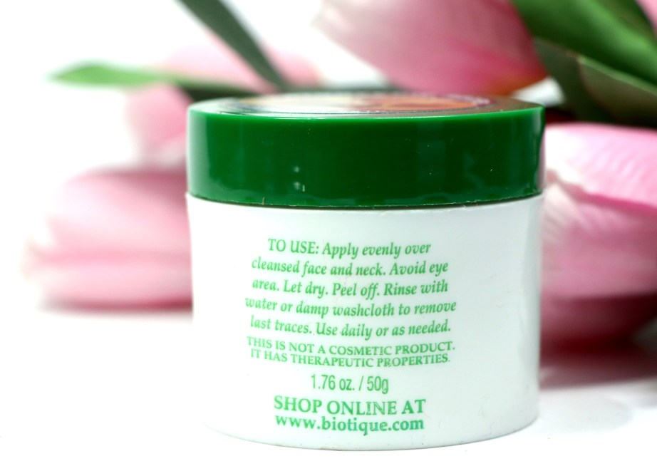 Biotique Bio Peach Clarifying & Refining Peel Off Mask Review, Demo info