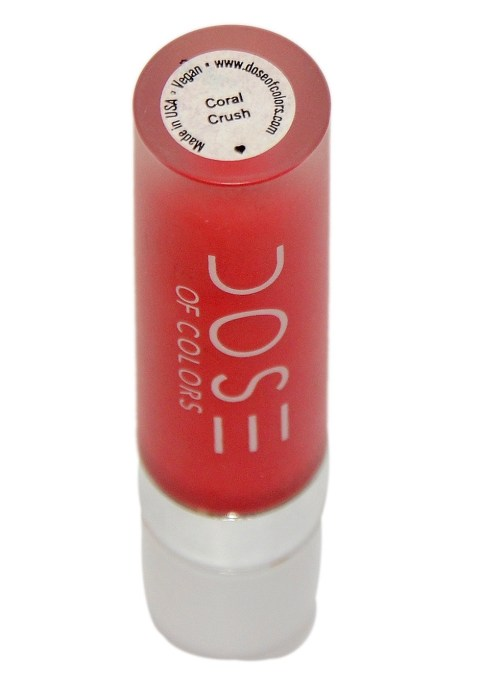 Dose of Colors Matte Liquid Lipstick Coral Crush Review, Swatches 1