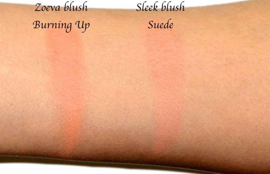 Dupe Alert Zoeva Blush Burning Up VS Sleek Blush Suede
