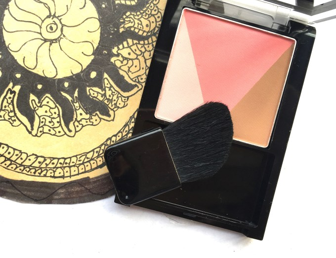 Maybelline V Face Blush Contour Pink Review, Swatches with Brush