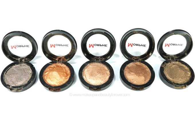 Morphe Pressed Pigments Swatches Celebrity Affair, Kill the Lights, So Chic & Polish, On the Rock, Dress Impress
