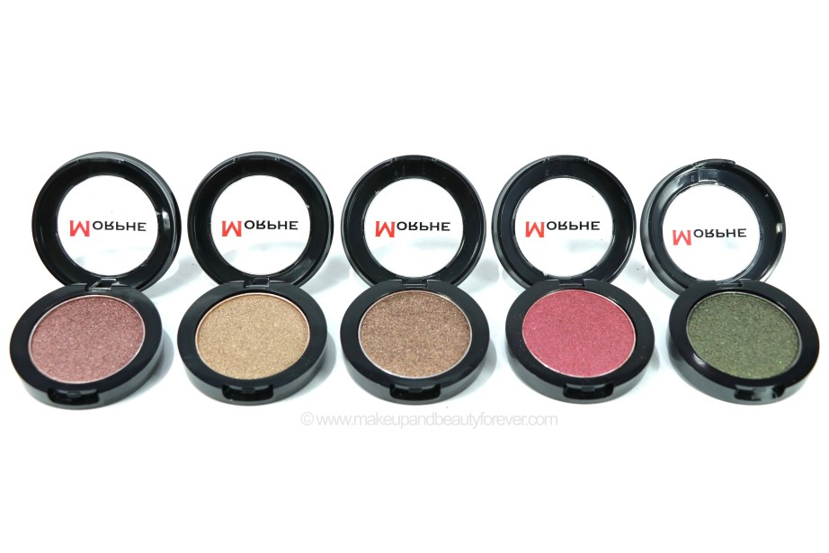 Morphe Pressed Pigments Swatches Marry the Night, The After Glow, Coffee & Drama, Untamed, Bitter MBF