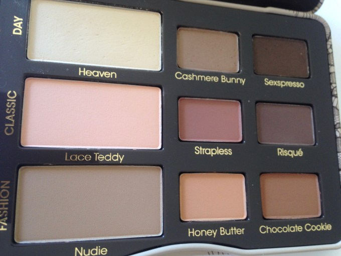 Too Faced Natural Matte Eyeshadow Palette Review, Swatches Side