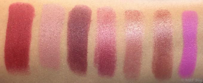 All MAC Viva Glam Lipsticks Shades Review, Swatches Viva Glam I, Viva Glam II, Viva Glam III, Viva Glam IV, Viva Glam V, Viva Glam VI, Viva Glam Arianda Grande
