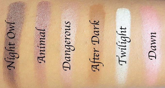 BH Cosmetics Illuminate Ashley Tisdale Night Goddess Palette Review, Swatches Bottom Row