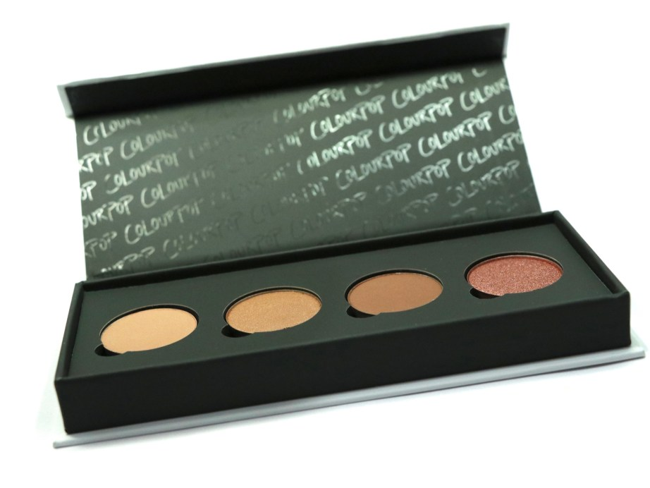 ColourPop Sonya Esman Gemini by Night Pressed Powder Shadow Palette Review, Swatch