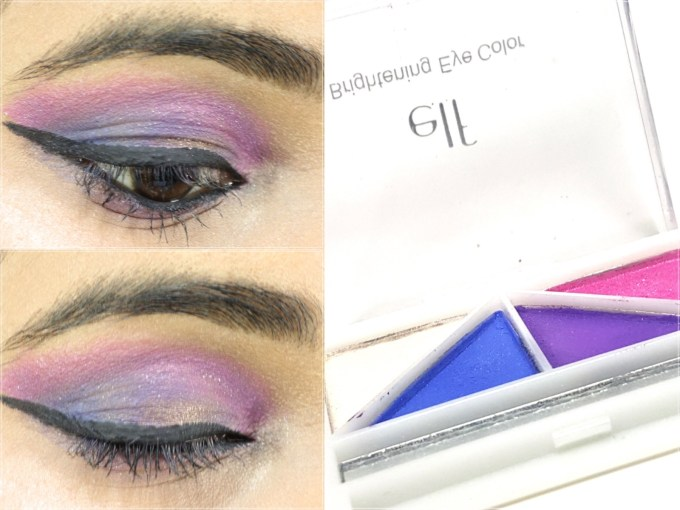 ELF Punk Funk Brightening Eye Shadow Quad Review, Swatches MBF Makeup Look