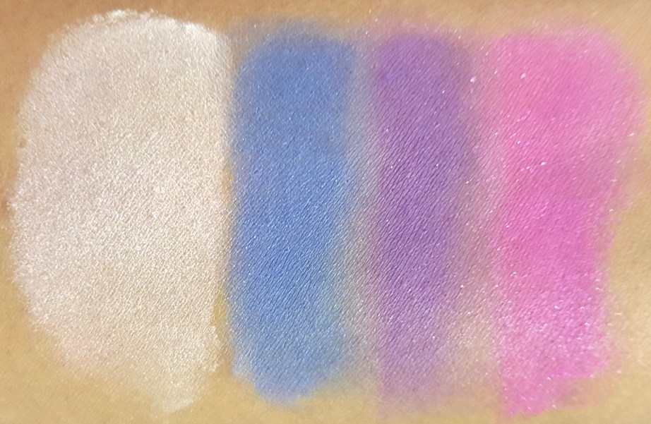 ELF Punk Funk Brightening Eye Shadow Quad Review, Swatches blended