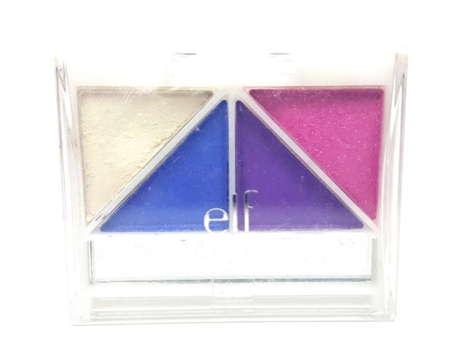 ELF Punk Funk Brightening Eye Shadow Quad Review, Swatches front