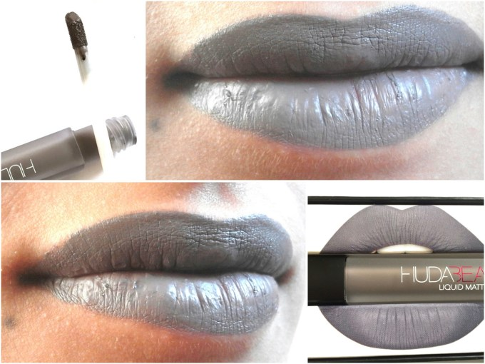 Huda Beauty Liquid Matte Lipstick SilverFox Review, Swatches On Lips