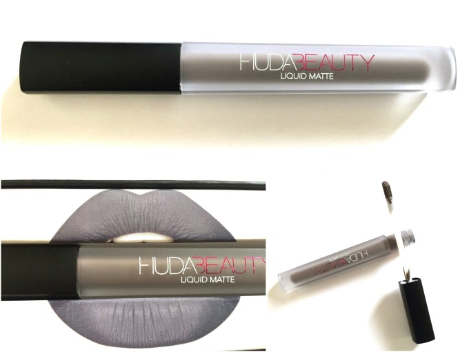 Huda Beauty Liquid Matte Lipstick SilverFox Review, Swatches