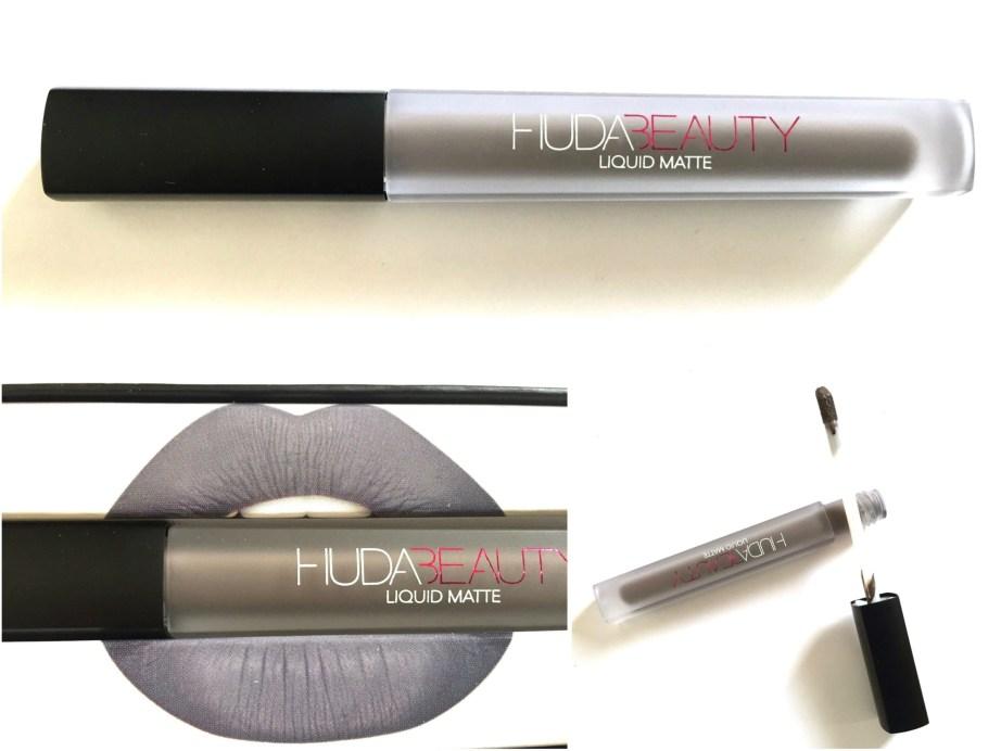 Huda Beauty Liquid Matte Lipstick SilverFox Review, Swatches