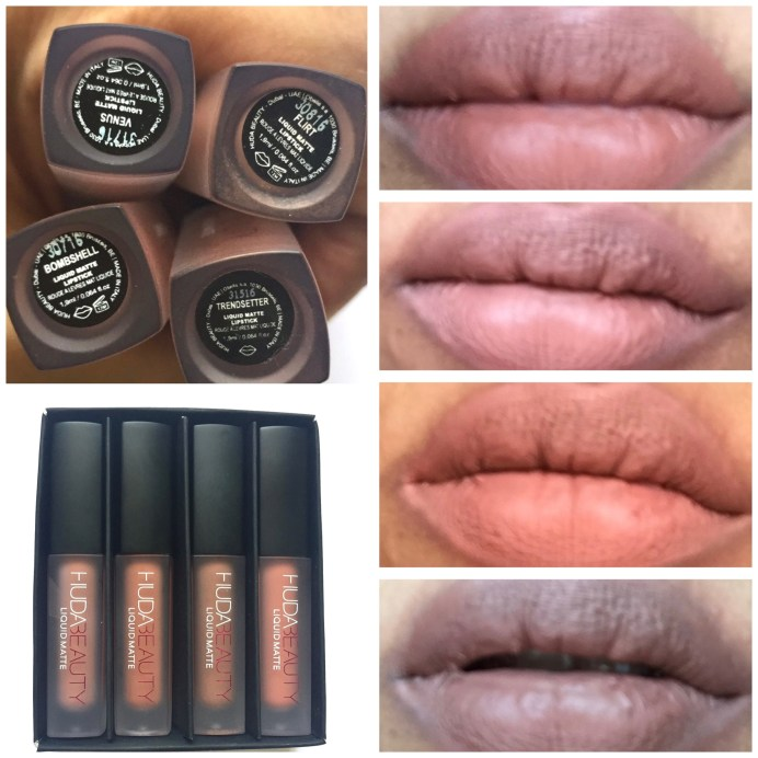 Huda Beauty The Nude Edition Liquid Matte Minis Lipstick Set Review, Swatches On Lips