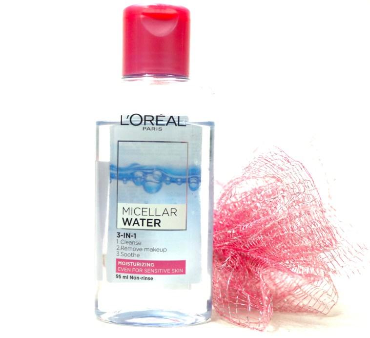 L'Oreal Paris Micellar Water 3 in 1 Review, Demo MBF Blog