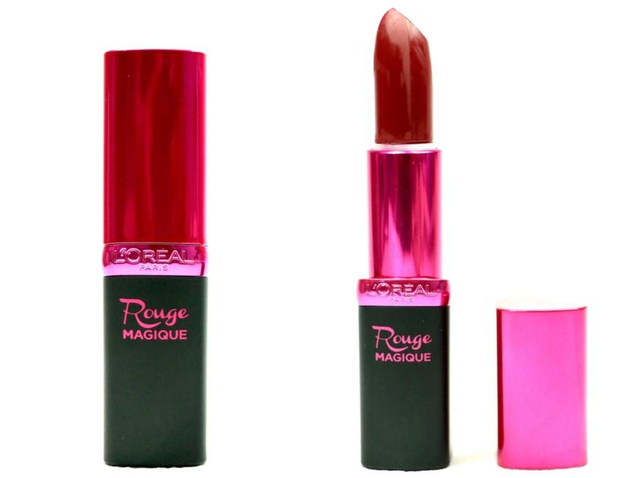 L'Oreal Paris Rouge Magique Lipstick Royal Velouté 909 Review, Swatches MBF Blog