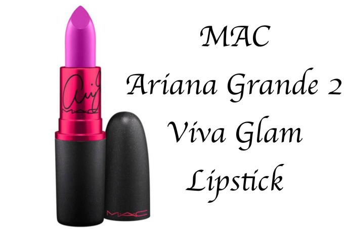 MAC Viva Glam Ariana Grande Lipstick Review, Swatches