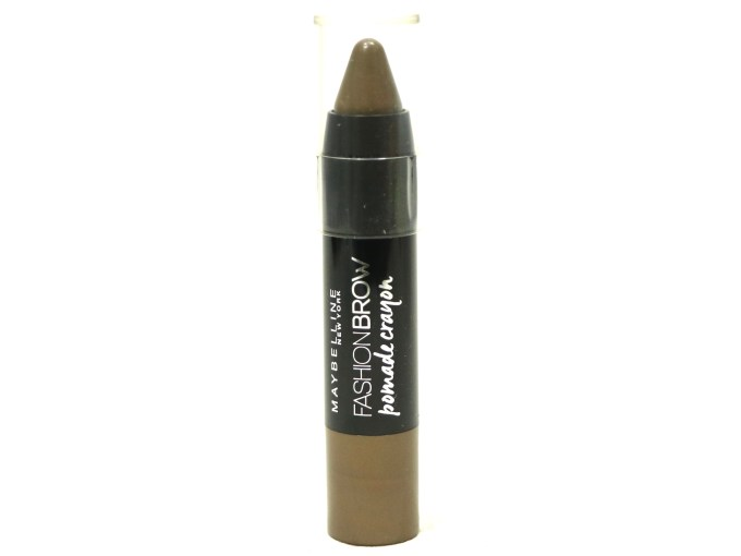 Maybelline Fashion Brow Pomade Crayon Review, Swatches Front