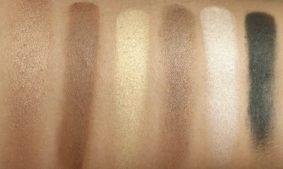 Maybelline The Nudes Eyeshadow Palette Review, Swatches Bottom Row MBF