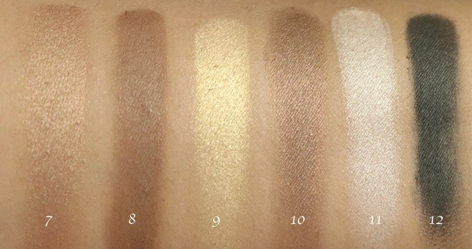Maybelline The Nudes Eyeshadow Palette Review, Swatches Bottom Row