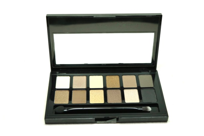 Maybelline The Nudes Eyeshadow Palette Review, Swatches Open