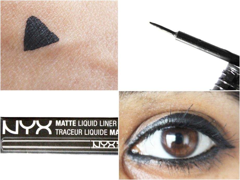 NYX Matte Liquid Liner Review, Swatches On eyes
