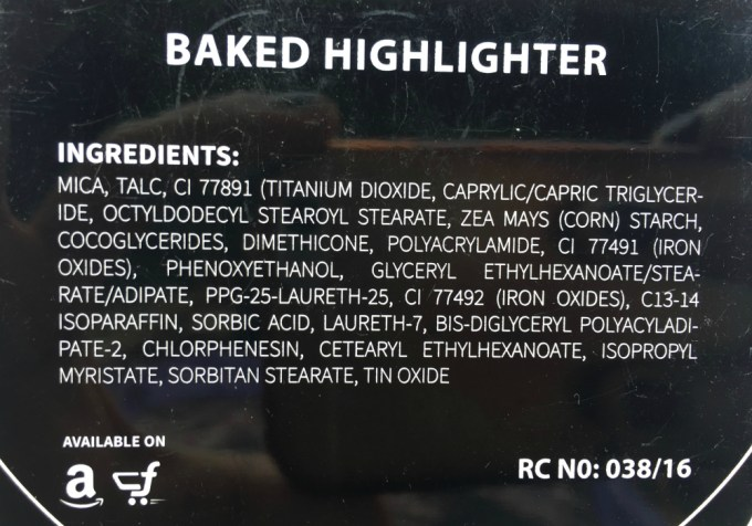 PAC Cosmetics Baked Highlighter 08 Review, Swatches Ingredients