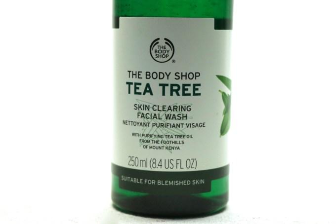 The Body Shop Tea Tree Skin Clearing Facial Wash Review closeup