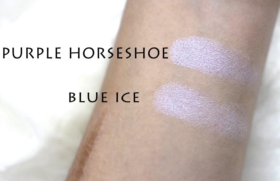 Anastasia Moonchild Glow Kit Review, Swatches purple horseshoe blue ice