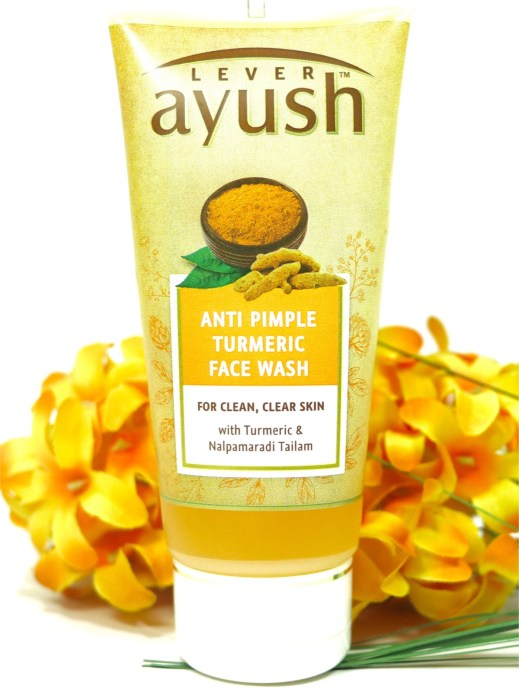 Lever Ayush Anti Pimple Turmeric Face Wash Review MBF Blog