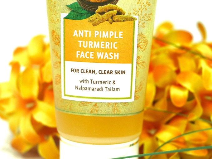 Lever Ayush Anti Pimple Turmeric Face Wash Review info