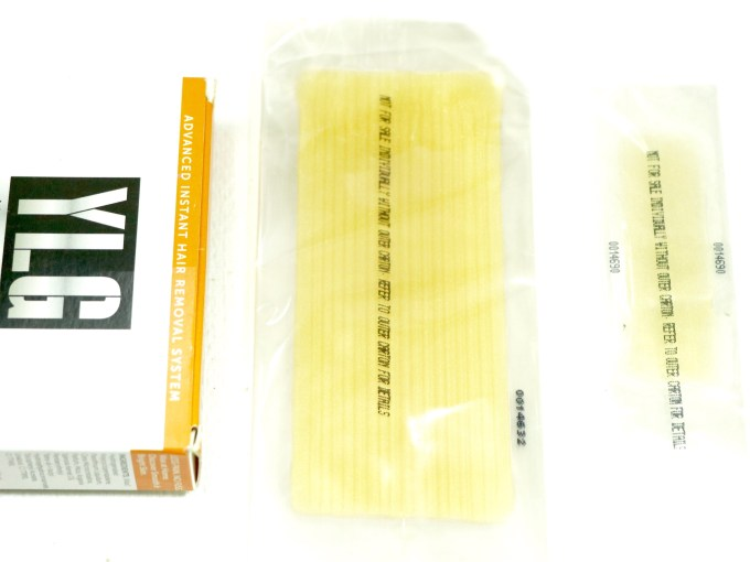 YLG Gold Glitter Brightening Cold Wax Strips Review body and facial wax strips