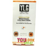 YLG Gold Glitter Brightening Cold Wax Strips Review