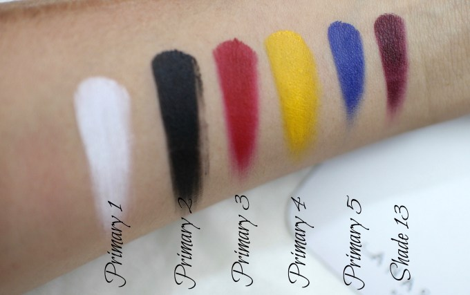 Anastasia Beverly Hills Lip Palette Review, Swatches bottom row primary colours