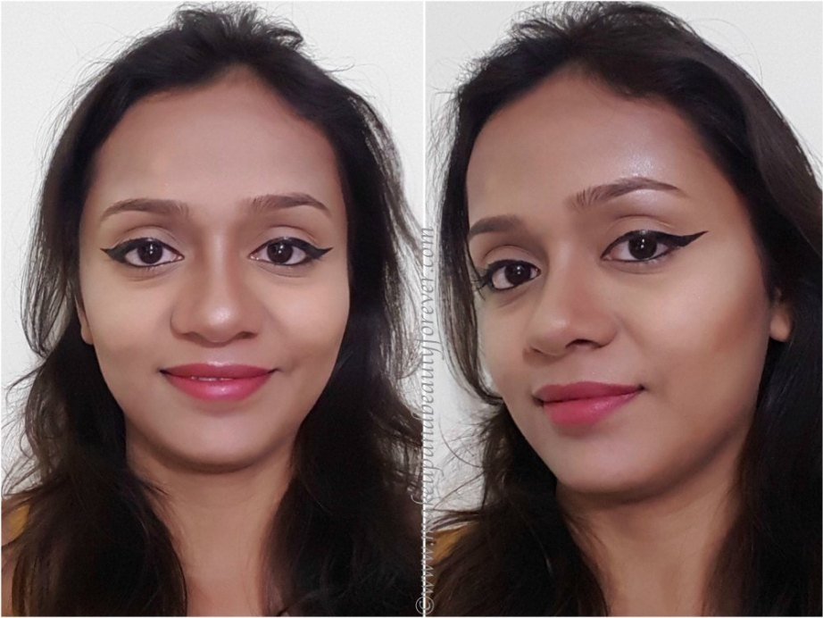 Makeup Revolution Ultra Contour Palette Review, Swatches MBF Blog makeup look
