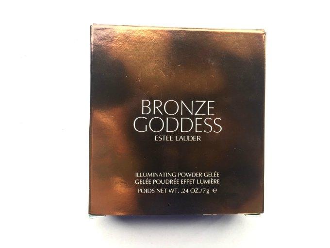 Estée Lauder Bronze Goddess Illuminating Powder Gelée Heat Wave Review, Swatches front