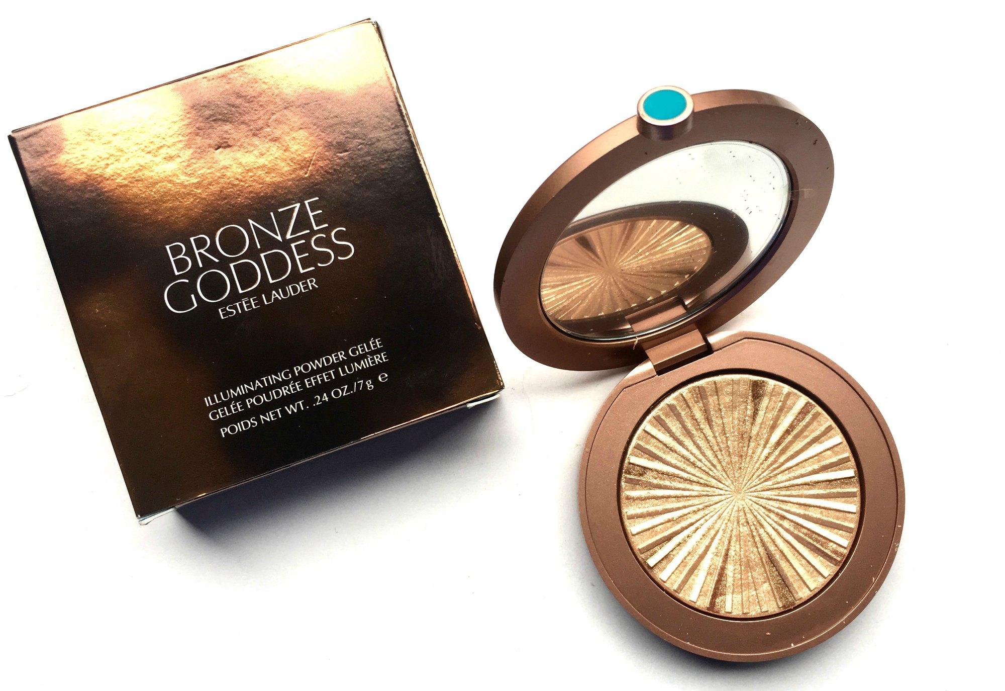 Este Lauder Bronze Goddess Illuminating Powder Gele Heat Wave Bobbi Brown Cheek Palette Limited Edition Review Swatches