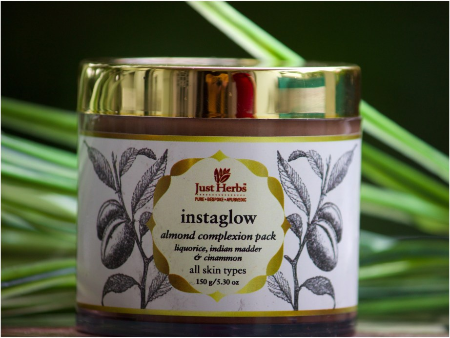 Just Herbs Instaglow Almond Complexion Face Pack Review MBF