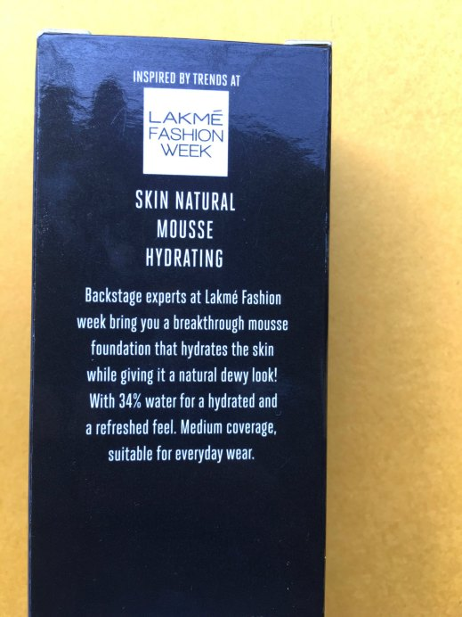 Lakme Absolute Skin Natural Hydrating Mousse Foundation Review, Swatches Info